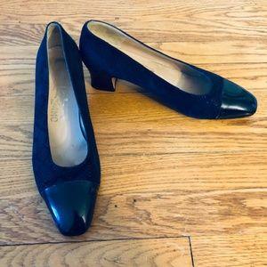 Salvatore Ferragamo Blue Suede Shoes- Size 10